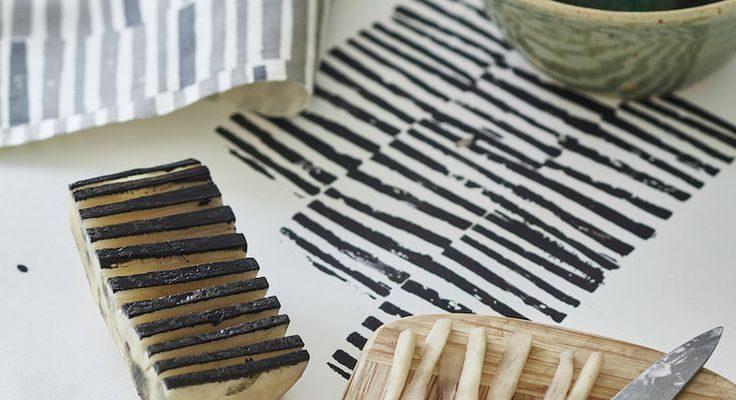 Fabric Crafts Potato print by Flora Arbuthnott