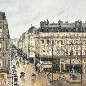Camille Pissarro La rue saint honor aprs midi effet de pluie
