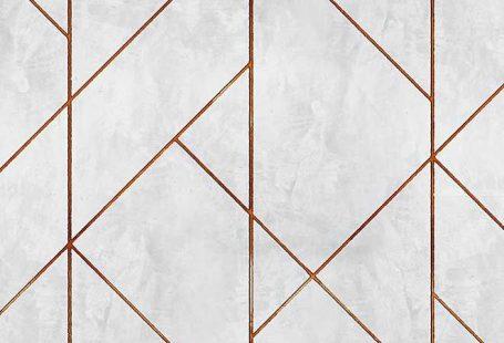Coordonne Geometric Concrete Copper Mural extra image