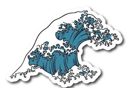 Japense Tsunami Wave Symbol Vinyl Sticker - #Japen... - #altbau #Japen #Japense #sticker