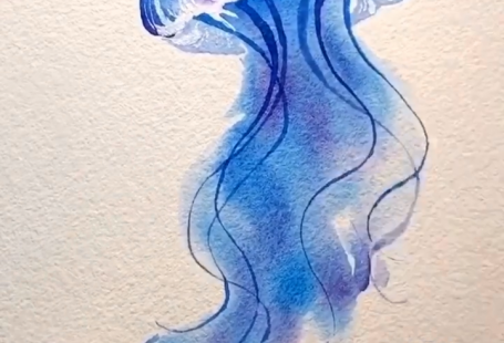 This cute jellyfish is coming to life with our Paul Rubens Glitter/Metallic Portable Watercolor set👉Shop the watercolor set at www.paperhouse.me💝Get $3 with code