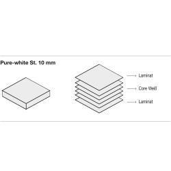 Kristalia Sushi Pure White Tisch 100 x 150cm Tischplatte Pure-white, Beine eloxiertes Aluminium Kris