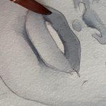 Using Polina Bright watercolour brush n.2