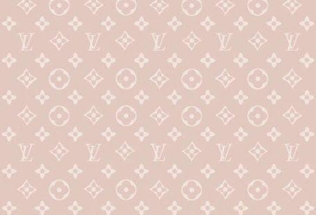 Louis Vuitton / Monogram for Rose Gold iPhone Fond d