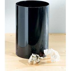 Kartell Abfallbehälter schwarz, Designer Gino Colombini, 38 cm KartellKartell
