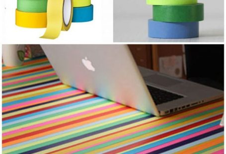 Easily make a rainbow table with washi tape - Mommy Scene