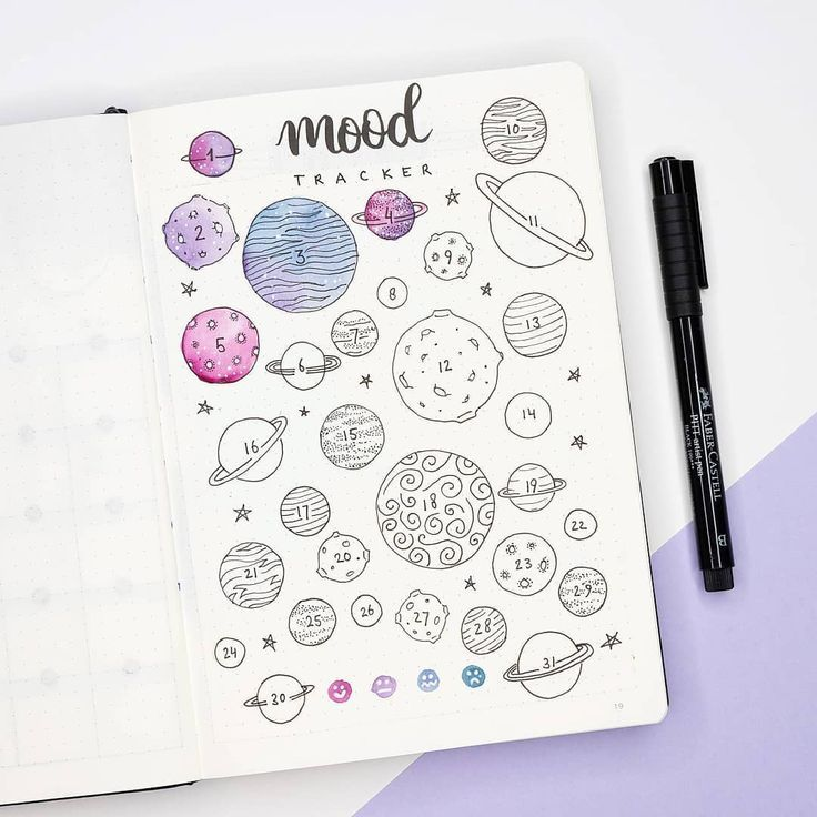 Mood tracker of the month! I quite like the purple and pink blend in this theme. They might be my two new favorite colors in my bullet…