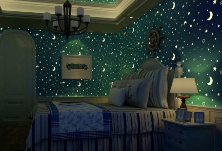 Moon & Stars Luminous Wallpaper – Modern Market Online