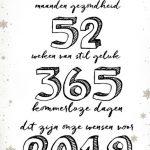 Originele Nieuwjaarskaart 12 maanden gezondheid