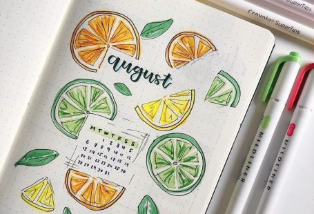 My title page for August! I am actually loving this citrus theme so much it just... - #August #Citrus #Loving #page #Theme