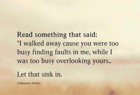 Read something that said: