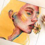 Samira Felice  eine 14-jährige aufstrebende Künstlerin / Illustratorin