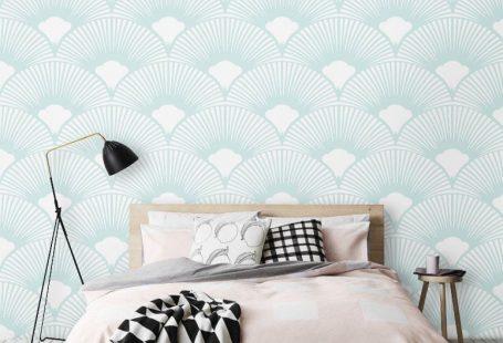 Scallop Geometric Pattern Wallpaper / Simple Removable Wallpaper / Geometric Wall Mural / Geometric Wallpaper - CM012, #CM012 #Geometric #Mural #pattern