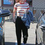 Selena Gomez- striped shirt from Popsugar