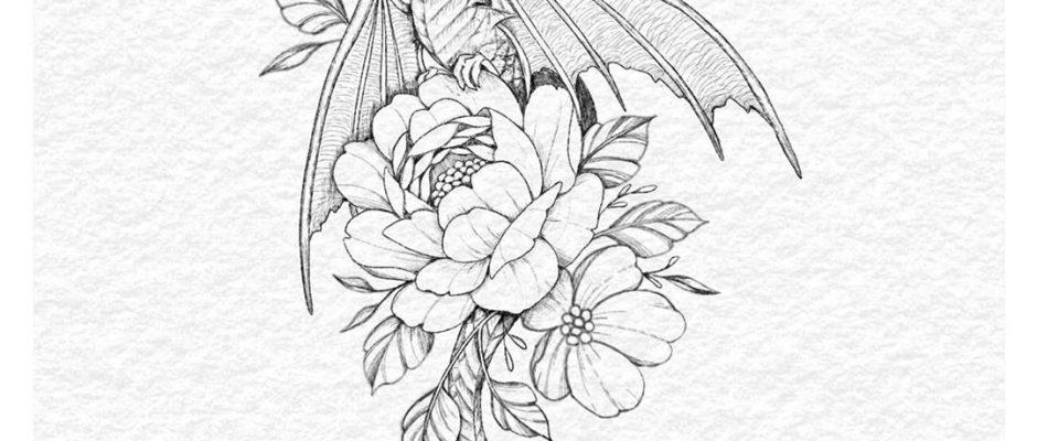 """Tattoo Artist • Ella auf Instagram: """"Inktober day 12 -"""" dragon """"Alle meine Designs für den Oktober sind ab Ende des Monats als Tattoos erhältlich! Ich nehme Buchungen für sie auf ..."""