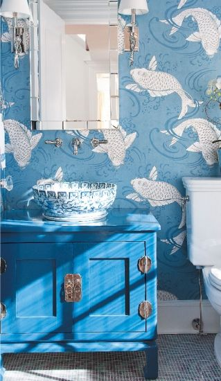 The Blue and White Bathroom                                                                                                                                                                                 More