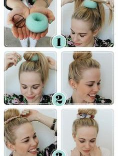 The easy way out of doing a bun! ;)
