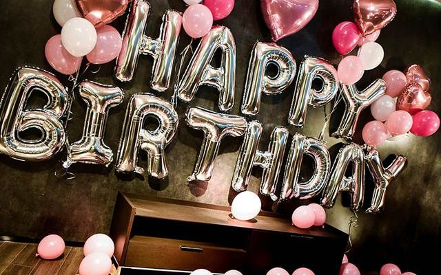 Online Shop 1Set 32Inch Alphabet Happy Birthday Foil Balloon Helium Pink Latex Globos Adult Birthday Decorations For Kids Party background