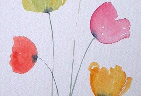 Watercolour painting COLOURFUL POPPIES original art by artist Amanda Hawkins 17 ...