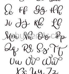 Vintage Alphabet auf weißem Hintergrund. Handgezeichnete Kalligraphie