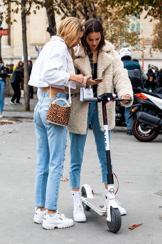 winter accessories white tennis shoes purses   Paris Fashion Week   Girlfriend is Better