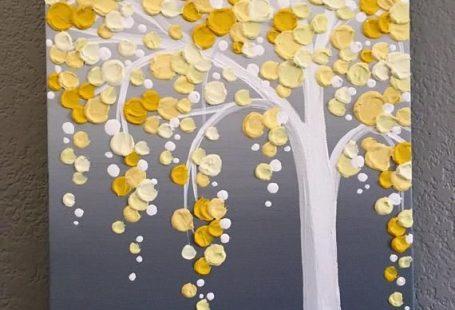 Gele en grijze geweven kunst  Origineel Acryl schilderij op Canvas  Grootte: Selecteer bij de kassa Diepte: 1.5 Kleur: Bright gelukkig tinten van geel variërend van een bleke zonnige schaduw tot een enigszins mosterd Toon bovenop een vervaagde grijze achtergrond... En natuurlijk vol met mooie