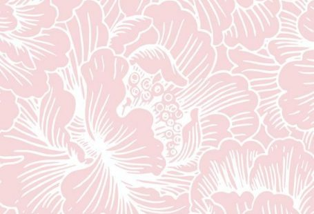 Image for CandyShell Inked by Speck Wallpaper - FreshFloral Pink/River Blue:
