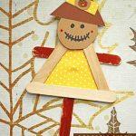 #gluedtomycrafts Craft Stick Scarecrow Puppet Friend - Kid Craft - Fall Art Project Idea  #art #Craft #Fall #Friend