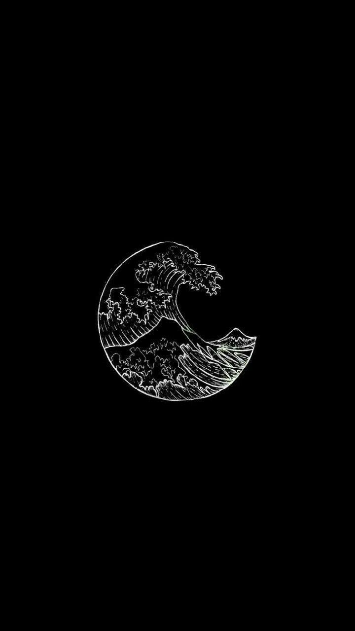 samsung Hintergrundbild Wellen schwarz weiß ästhetische Tumblr ...